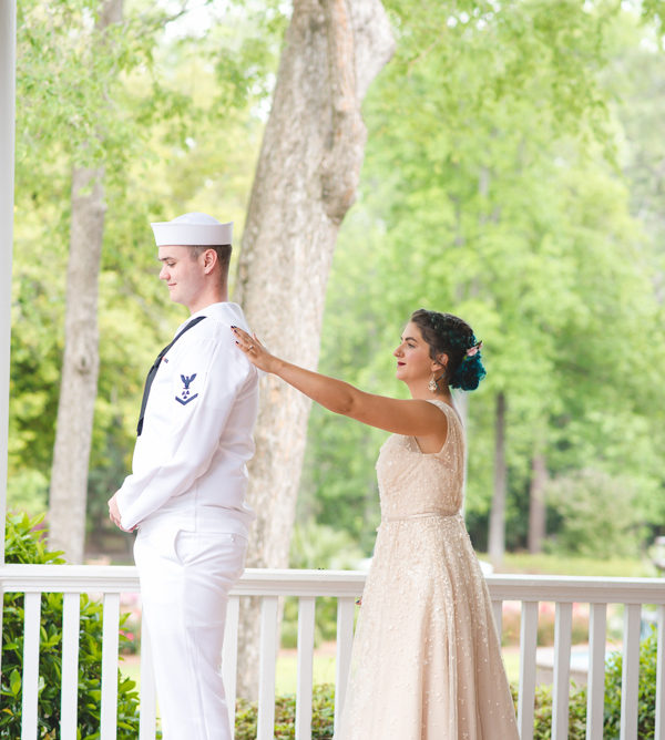 beautiful navy wedding in the woods | driscoll