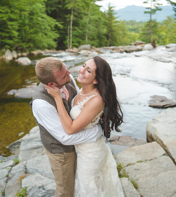 intimate destination wedding in the NH White Mountains | Kittrick