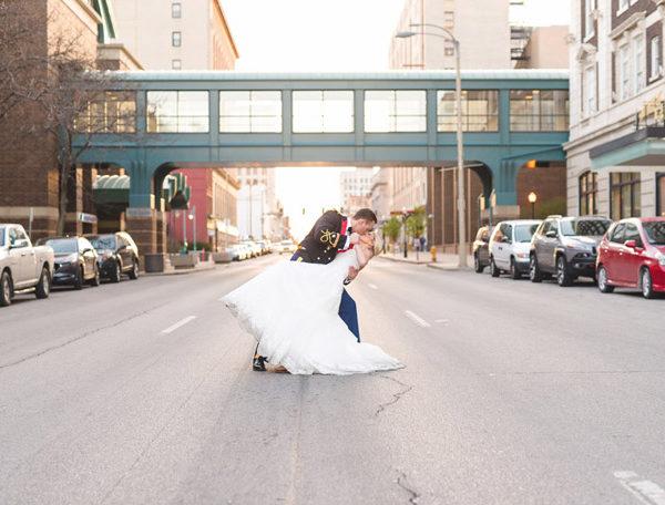 quad city wedding | sacred heart catholic church & hotel blackhawk