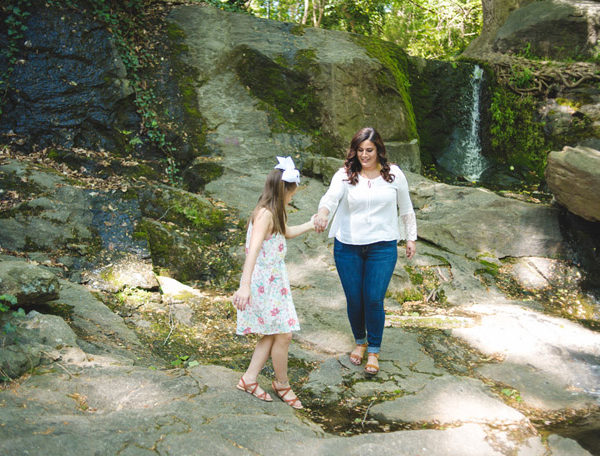 downtown falls park mom & me session | greenville, sc | mclamb