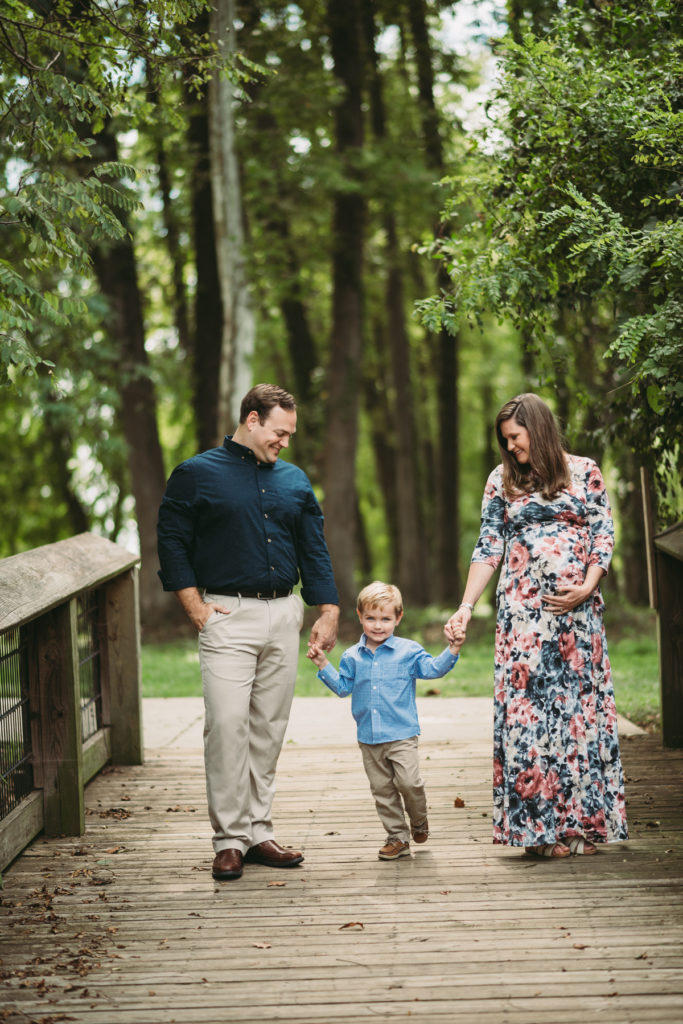 south carolina maternity session with toddler