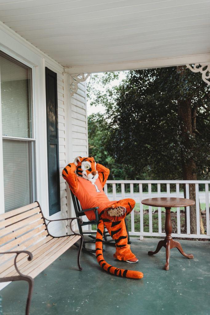 posing clemson tiger