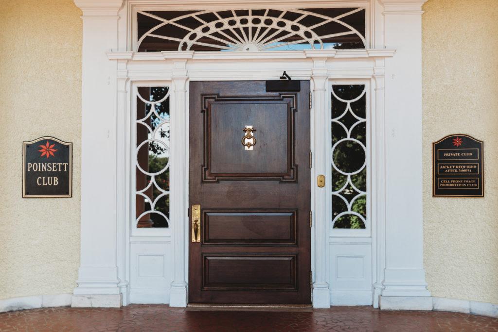 poinsett club front door