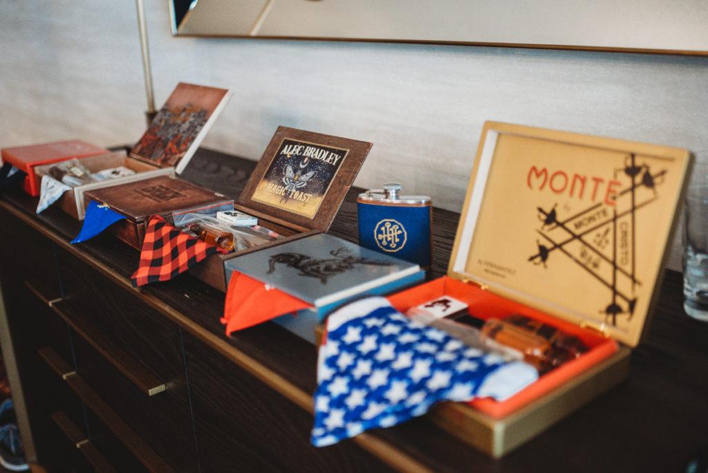 custom cigar box groomsmen gift