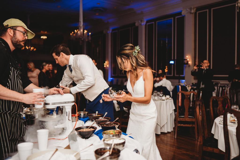 gelatto bar at weddings