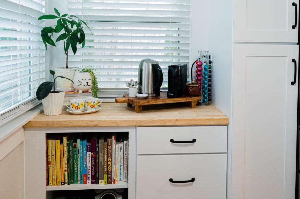 Scandinavian kitchen  coffee station