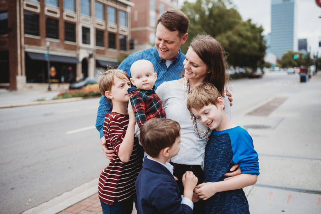 downtown columbia family session