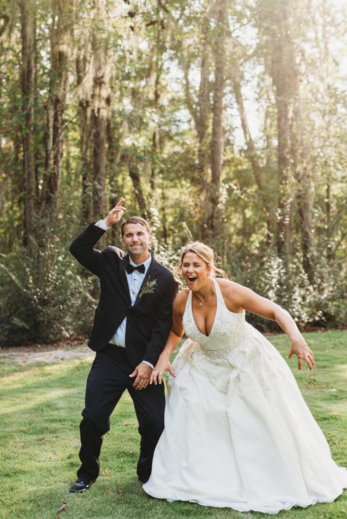 wwe bride and groom pose