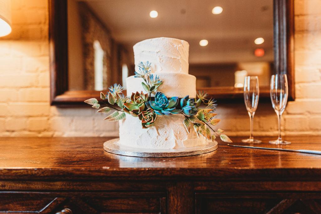 publix wedding cake succulents