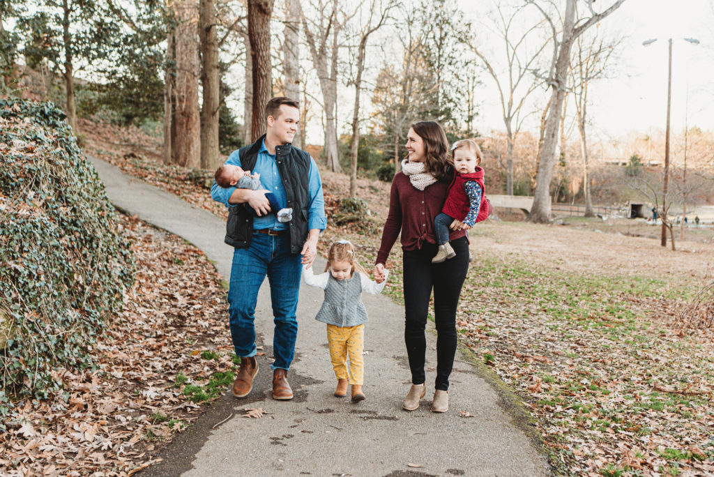 family photos with three under the age of three