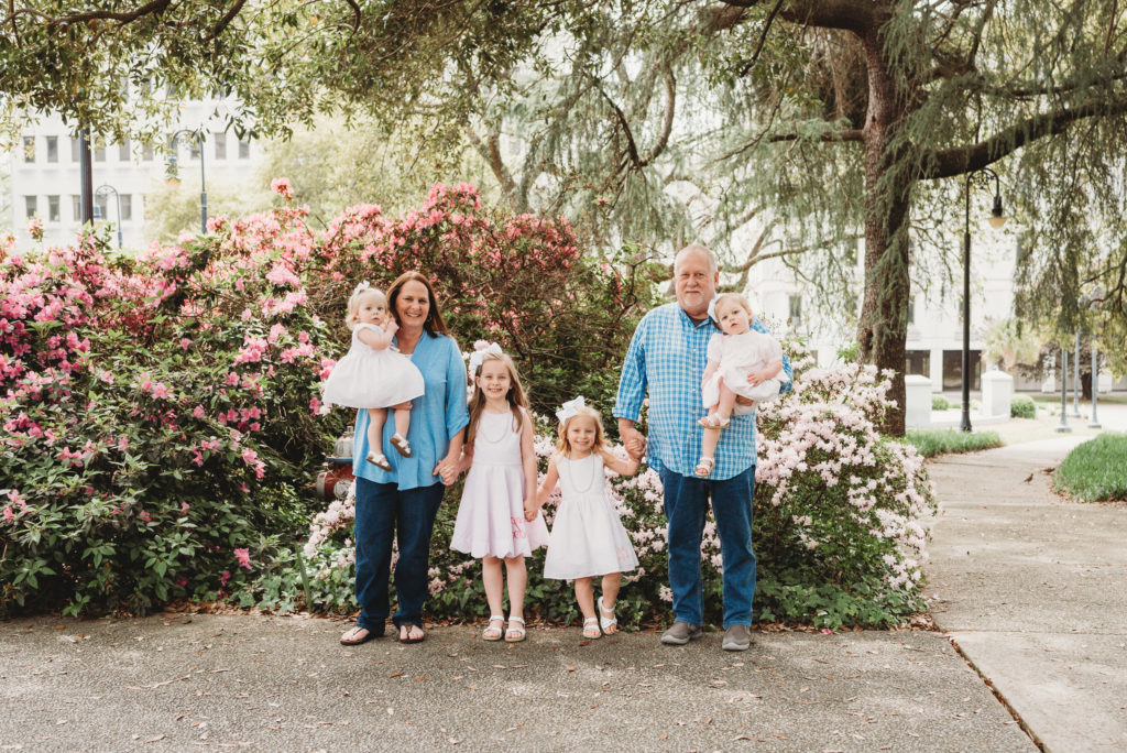 grandparent session with granddaughters